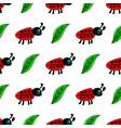 seamless pattern with ladybug vector image