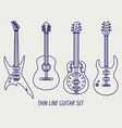 thin line guitars on grey background vector image