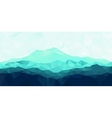 Triangle geometrical background with blue mountain vector image