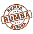 rumba stamp vector image