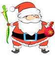 Santa and the snake vector image vector image