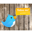 Following Bird Icon vector image
