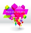 Abstract geometric speech bubble background vector image