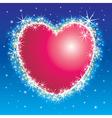 shiny shiny heart vector image