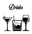 Drink design vector image