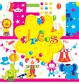 circus wallpaper print vector image vector image