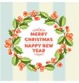 Christmas mistletoe holiday card vector image