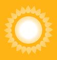 folk village sun vector image vector image