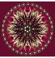 Purple gold black mandala vector image vector image