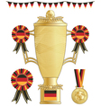 germany football trophy vector image vector image