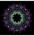 Round Mandala Color Dark 2 vector image