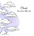 Background with Clouds vector image