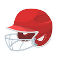 baseball helmet baseball single icon in cartoon vector image