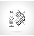 Black line icon for wine vector image