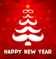 Christmas tree with a mustache vector image