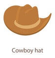 cowboy hat icon isometric 3d style vector image