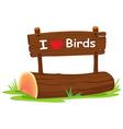 I love birds vector image