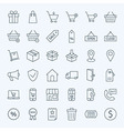 Line Shopping and E-commerce Icons Set vector image
