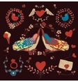 Love decorative elements set vector image