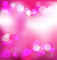 Pink elegant abstract background with bokeh lights vector image