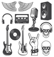 Rock set vector image