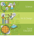 Science Art and Design Social Banner vector image