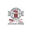 social bbq concept design template vector image