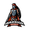 The roman warrior logo vector image