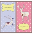 Vintage cards with deers vector image vector image