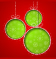 Abstract Xmas greeting card vector image vector image