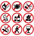 prohibitory signs vector image vector image