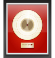Platinum CD prize with label in frame on wall vector image vector image