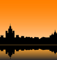 Moscow city silhouette skyline vector image