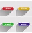 Flat web buttons set vector image