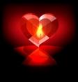 heart crystal vector image vector image