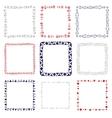 Set of 9 decorative square frames vector image