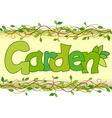 beautiful image of the word garden vector image