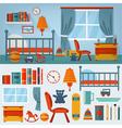 Children Bedroom Interior with Furniture vector image