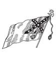confederate national flag - no 3 vintage vector image