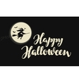 Happy Halloween banner or greeting card vector image