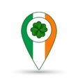 Ireland flag location icon vector image