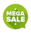 Mega Sale sticker vector image
