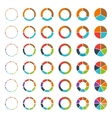 Segmented pie charts and arrows set vector image