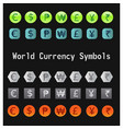 world currency symbols vector image