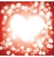 shining heart vector image vector image