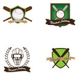 set of baseball emblems vector image