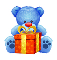 blue teddy bear vector image