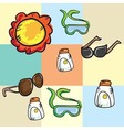 Beach Vacations Travel vector image
