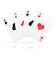 playing cards 01 vector image