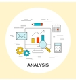 Business analysis concept vector image